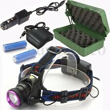 8000Lm T6 LED lampe frontale Flashlight HeadLight 2X 18650  2x Chargeurs /Boîte