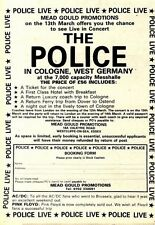 7/2/81PGN12 ADVERT: SEE THE POLICE LIVE IN CONCERT IN WEST GERMANY 7X5