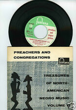45 RPM EP  PREACHERS & CONGREGATIONS TREASURES OF NORTH AMERICAN NEGRO MUSIC 6