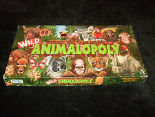 WILD ANIMALOPOLY- RARE FAMILY BOARD GAME - MADE BY LATE FOR THE SKY