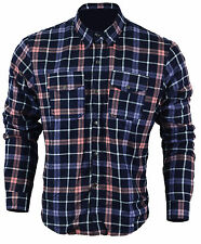 Motorcycle Cotton Flannette Shirt Lined wth DuPont™ KEVLAR® CE Armour Large BLUE