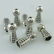 18719 35PCS Vintage Silver Alloy 16mm Beads Cap Tassels End Charms Pendant