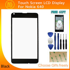 Outer Front Screen Glass Lens Replacement Part for Nokia Lumia 640 Black+Tools