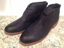 Tommy Hilfiger Lark Ankle Boots Chukka Lace Up Casual Dark Blue Navy 13/47 New