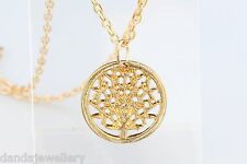 Yellow Gold Tree of Life Round Necklace Once Upon a Time Queen Regina Necklace