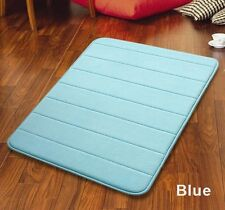 "32"" Non-Slip Back Rug Soft Bathroom Carpet Memory Foam Bath Mat Blue New"