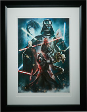 Sideshow Star Wars FORCES OF DARKNESS FRAMED Exclusive Art Print ACME Archives