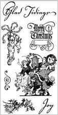 HAMPTON ART GRAPHIC 45 cling mounted rubber stamps MERRY CHRISTMAS