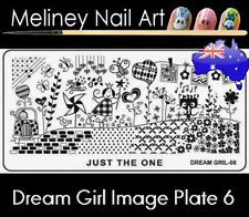 Dream Girl 6 Stamping Nail Art Image Plate Design Rectangle XL Stencil metal