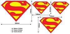Superman Logo Decals (X4),for home, vehicle, phone, PCs, or any smooth surface