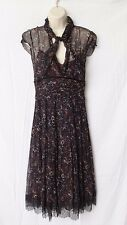 Elie Tahari - Womens Silk Lace Hem Layered Dress $400 Size 8