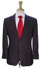* HUGO BOSS * Recent The Crows/Soft Solid Dark Brown 2-Btn 100% Linen Suit 36S