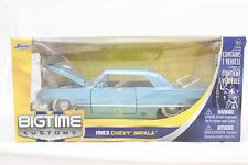 Jada 1963 Chevy Impala blueish 1/24 Diecast new In Box