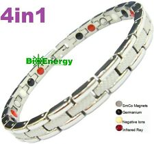4in1 germanium Magnet Energy Power Bracelet Health Bio Armband Arthritis lady's