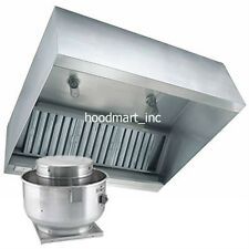 4ft Concession Trailer Hood Restaurant Grease Exhaust Fan and Curb Food Truck
