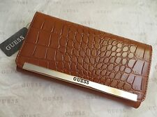 NWT GUESS KINGSVILLE Clutch Wallet Purse Handbag Bag BROWN