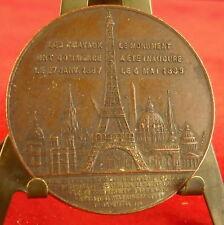 Médaille Ascension au sommet de la Tour Eiffeil Par Trotin Medal 勋章 Monuments