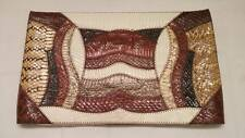 Vtg 70's Genuine Southwest Snakeskin & Leather Envelope Handbag Bag Clutch Purse