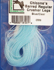 Chicone´s Barred Regular CRUSHER Legs Hareline 80 Streifen BLUE / CLEAR