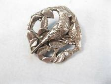 Birds & Blooms Cardinal Silver-Tone Metal Pin 1999 Limited Edition Leaves (O)