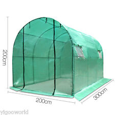 3Mx2M Walk In Greenhouse Garden Green House Plant Shed PE Cover shade Arch Roof