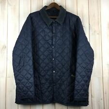 Vintage Barbour D349 Liddesdale Quilted Quilt MADE IN ENGLAND Blue Jacket XXL