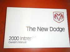 2000 DODGE INTREPID ORIGINAL FACTORY OPERATORS OWNERS MANUAL GLOVE BOX