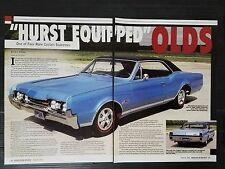 1967 Hurst Oldsmobile Cutlass Supreme 4-Page Article - Free Shipping