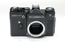 Zenit E 35mm SLR camera body, Black version, M42 lens mount, Working meter