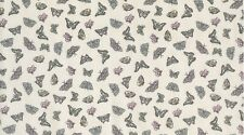 Dear Stella Ostara 107 Cream Vintage Butterfly Cotton Fabric BTY