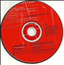 SPRAGGA BENZ A-1 Lover 2 MIXES & ACAPPELLA PROMO DJ CD Single a1 Spraggapella a1