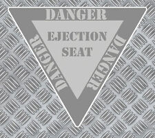 PANNEAU DANGER SIEGE EJECTABLE AVION 85mmX75mm AUTOCOLLANT STICKER (EA012)