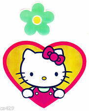 "5"" HELLO KITTY SANRIO FLOWER CHARACTER  WALL BORDER PEEL & STICK CUT OUT"