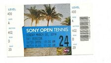 2014 RAFAEL NADAL VS NOVAK DJOKOVIC ATP SONY OPEN TENNIS FINAL TICKET STUB 3/30