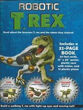 Robotic T Rex Dinosaur Build Your Own Model Book Fact Cards Poster Motor NEW