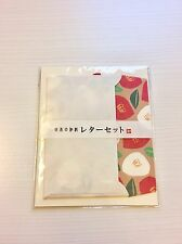Japanese Washi Paper Letter Set Japanese Camellia Made in Japan! US Seller!