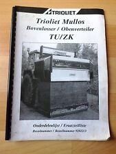 Trioliet Siloschneider TU / ZK Ersatzteilliste