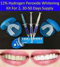 12% Hydrogen Peroxide Teeth Whitening Gel Kit LED Light Tray Bleaching Whitener