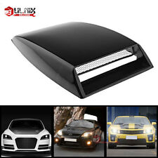 Car SUV Black Decor Air Flow Intake Scoop Turbo Bonnet Hood Vent Grille Cover