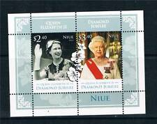 Niue 2012 Royal Diamond Jubilee 2v MS MNH