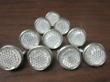 LOT OF ~10 ~ CLEAR ~  ROUND LICENSE PLATE BOLT REFLECTOR BIKE FASTENERS