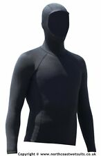 1.5 mm thermal hooded long sleeve rash vest  VERY  WARM under wetsuit or alone