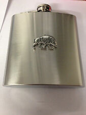 CELTIC BOAR REFCBPP  english pewter 6oz Stainless Steel Hip Flask