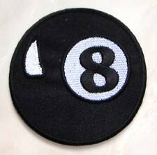Eight 8 Ball Billiards Pool Embroidered Iron on Patch Free Postage