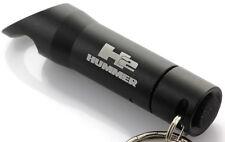 Hummer H2 Black Keychain Car Key Ring Chain Mini Flashlight LED Bottle Opener