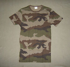 French CCE woodland camouflage Petit Bateau Men's cotton T shirt small