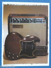 av/ handmade greetings / birthday card GIBSON SG + LEFT-HAND AMPLIFIER