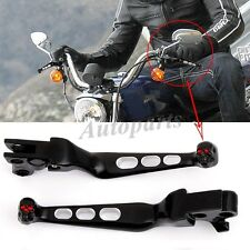 Dual BLACK Skull Motorcycle Hand Brake Clutch Lever For XL Sportster 883 1200 US