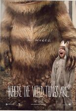 POSTER WHERE THE WILD THINGS ARE SPIKE JONZE FANTASY