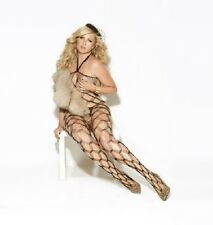 Sexy Black Diamond net bodystocking All in One Plus size 18 20 22 24 EM8620 UK